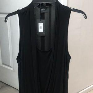 Armani Exchange sleeveless drapey blouse